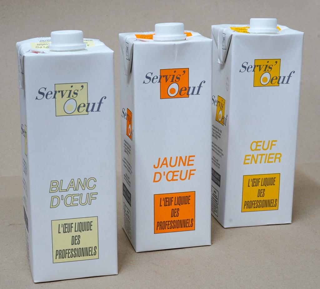 Oeuf liquide X1LITRE BLANC/JAUNE/ENTIER
