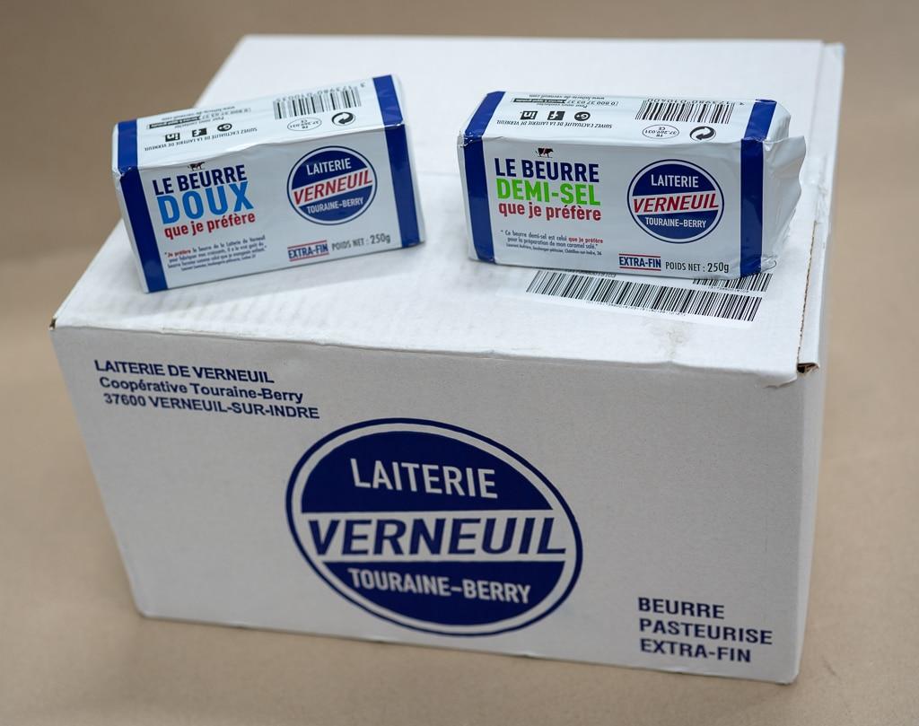 Beurre DOUX OU DEMI SEL 250 GRAMMES  Verneuil