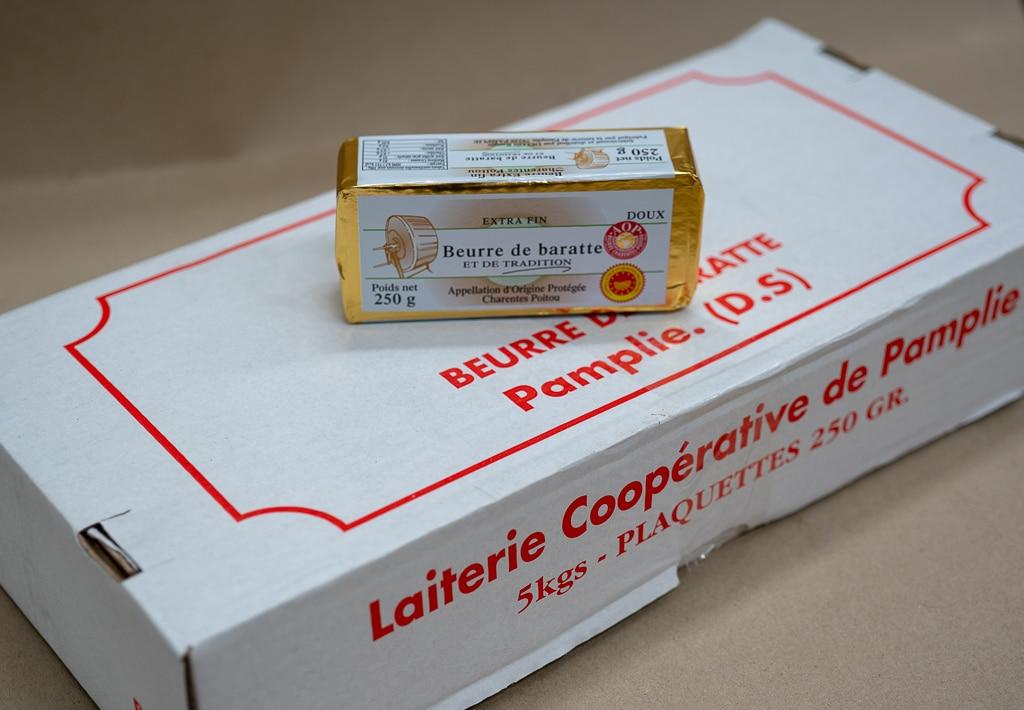 Beurre de baratte AOP DOUX 250 GRAMMES PAMPLIE